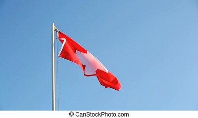 Switzerland flag in slow motion