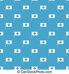 Switzerland flag pattern seamless blue