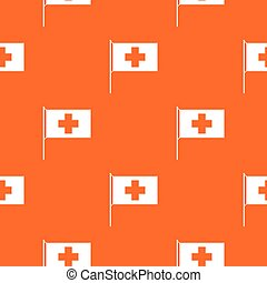 Switzerland flag pattern seamless