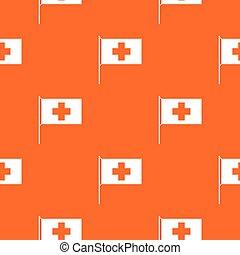 Switzerland flag pattern seamless