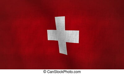 Switzerland Flag Texture(Loop-able) - Flag Background...