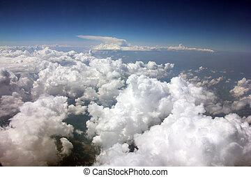 Switzerland from airplane window