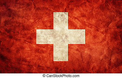 Switzerland grunge flag. Item from my vintage, retro flags collection