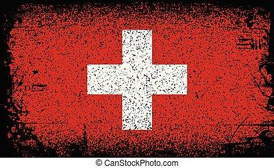 switzerland Grunge flag. vector Background Illustration