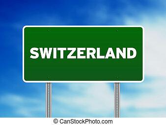 Switzerland Highway Sign