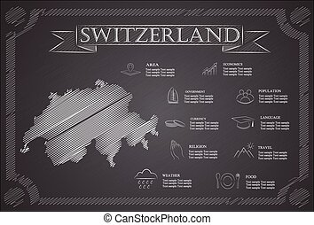 Switzerland infographics, statistical data, sights.