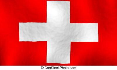 Switzerland looping flag animated background