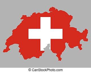 Switzerland Map flag Vector illustration Eps 10