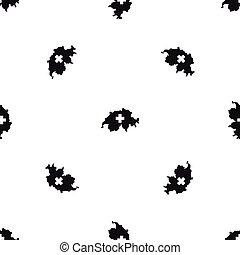 Switzerland map pattern seamless black