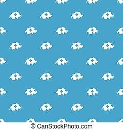 Switzerland map pattern seamless blue