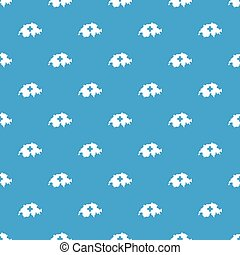 Switzerland map pattern seamless blue