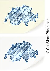 Switzerland scribble map