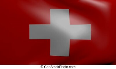 switzerland strong wind flag