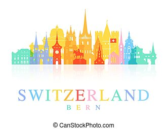 Switzerland Travel Landmarks.
