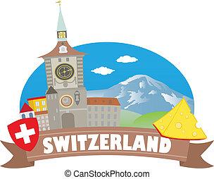 switzerland., turismo, e, viaggiare
