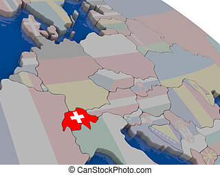 Switzerland with flag