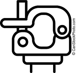 Swivel clamp icon, outline style - Swivel clamp icon....