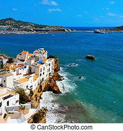 swoja, penya, okręg, w, ibiza miasto, balearic wyspy, hiszpania