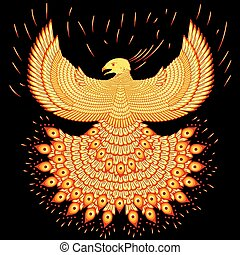 swooping fiery phoenix