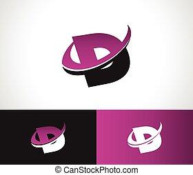 Swoosh Alphabet D icon