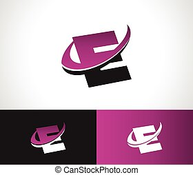 Swoosh Alphabet E icon