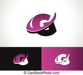 Swoosh Alphabet G icon