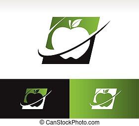 Swoosh Apple Icon