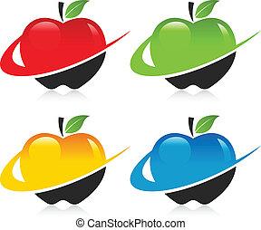 Swoosh Apple Icons