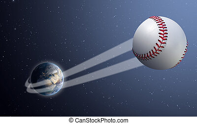 swoosh, balle, la terre, espace