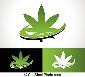 Swoosh Cannabis Logo Icon