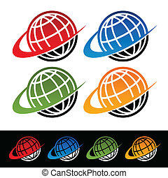 Swoosh Earth Icons