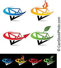 Swoosh Envelope Icons