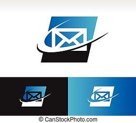 swoosh, enveloppe, icône