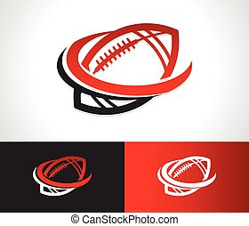 Swoosh Football Logo Icon - American football logo icon with...