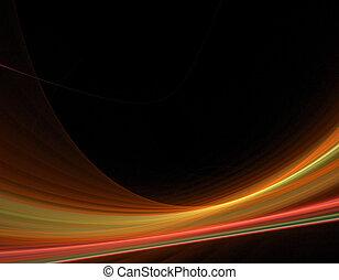 swoosh fractal background