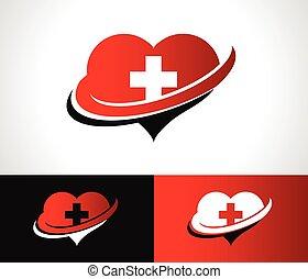 Swoosh Heart Logo Icon