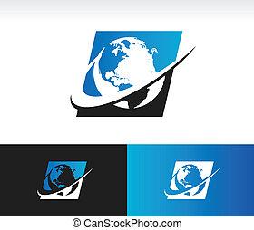 Swoosh Planet Earth Icon