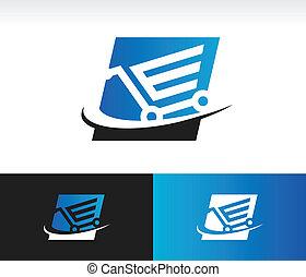 Swoosh Shopping Cart Icon