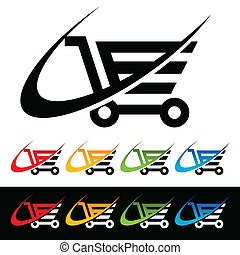 Swoosh Shopping Cart Icons