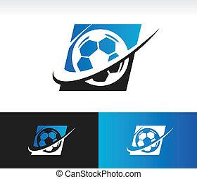 Swoosh Soccer Ball Icon