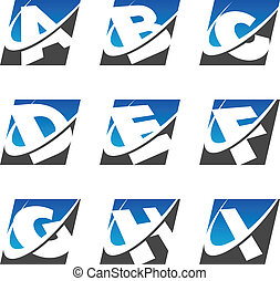 Swoosh Sport Alphabet Icons Set 1