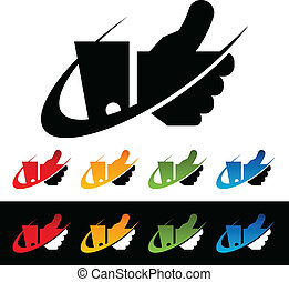 Swoosh Thumbs Up Icons