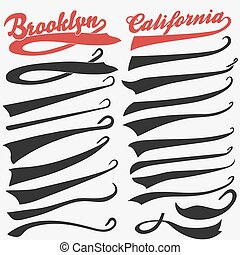 Swooshes set for Athletic Typography. Vector - Swooshes set,...