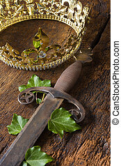 Sword and crown