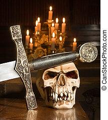 Sword and skull
