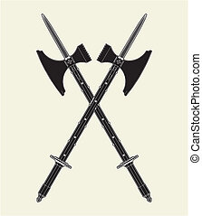 Sword Battle Axe Vector
