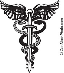 Sword Caduceus