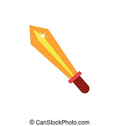 sword fairytale object isolated icon vector illustration ...