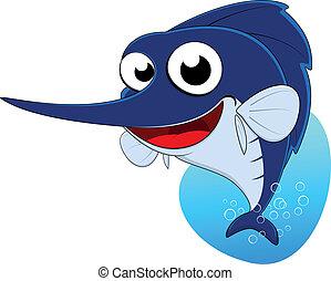 Sword fish ,Marlin fish - Vector Illustration Of Sword...