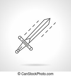 Sword flat line vector icon